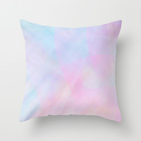 Abstract Pastel Design Throw Pillow by secretgardenphotography [Nicola]