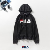Fashion Fila Hoodies mens Long sleeves Hoody sweater men Print filas jacket with hat men casual sweatshirt