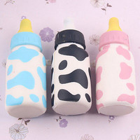 New Squishy Feeding Bottle Toy Scented  Bread Fun Squishy Charms HU