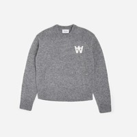Wood Wood Anneli Sweater 11731001 4033 GRE | Grey Melange Sweatshirts| Clothing - Naked