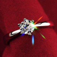 Hot selling Women Clear Zircon Inlaid Wedding Bridal Engagement Party Jewelry Ring Size 6-9  5LLR