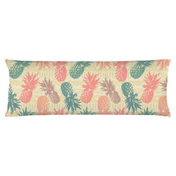 Pineapple on Tribal Body Pillow