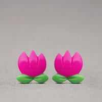 Tulip Earrings - Mother's Day Gifts, Nature Jewelry, Spring Fashion