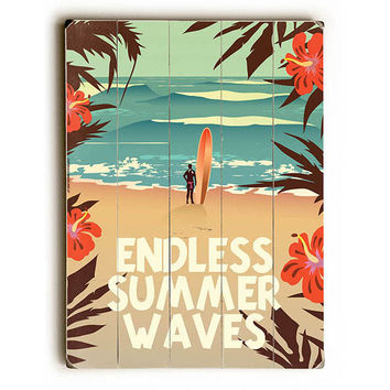 Endless Summer Waves by American Flat Wood Sign
