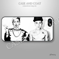 Miley cyrus Justin bieber iPhone 5 Case, iPhone 4 Case, iPhone 5C Case, iPhone 5S Case, Phone Cases, iPhone Case, Case for iPhone - 5F0074