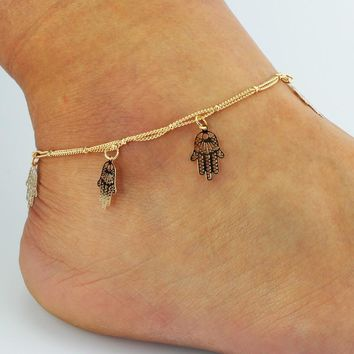 Sexy Stylish Gift Jewelry Shiny Ladies New Arrival Cute Hot Sale Tassels Double-layered Accessory Anklet [8527541383]