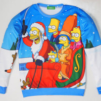 THE SIMPSONS HOLIDAY CREWNECK