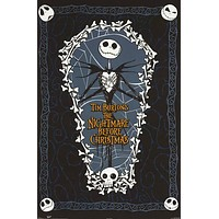 Nightmare Before Christmas Coffin Movie Poster 22x34