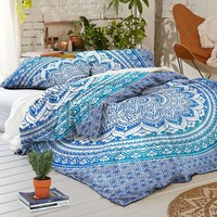 NEW Boho Blue Ombre Tapestry Full Duvet Cover SET
