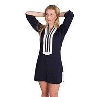 Theresa Tunic in Navy/White by Duffield Lane
