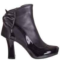 Banned Retro Sadie Black Ankle Boots