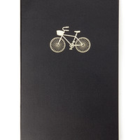 Embossed Metallic Bicycle Journal