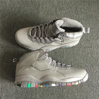 Air Jordan 10 Retro Gray Colorful Basketball Shoe