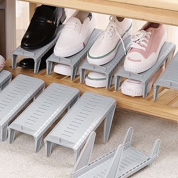 1pc Adjustable Shoe Storage Rack