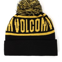 Volcom Roll Over Pom Beanie - Mens Hats - Black - One
