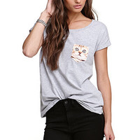 True Love & False Idols Cat Pocket Tee at PacSun.com