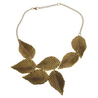 Multilayer Leaves Pendant Necklace