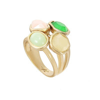 Faceted Stones Four Ring