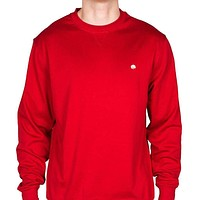 Cotton Boll Embroidered Crewneck Sweatshirt in Crimson by Cotton Brothers