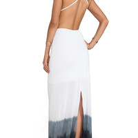 WOODLEIGH Sydney Dip Dye Maxi Dress in Charcoal