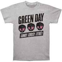 Green Day Men's  3 Heads Better Than 1 T-shirt Grey
