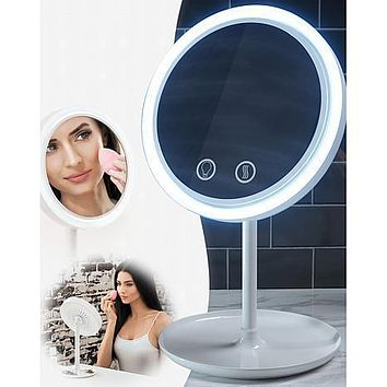 Breezy LED Lighted Mirror with Fan by Nubrilliance