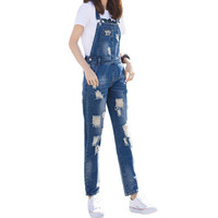 New 2017 Women Jumpsuit Fashion Sexy Strap Letter Jeans Denim Jumpsuit Ladies Elegant Backless Bodycon Overall D127
