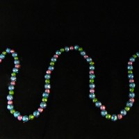 6' Shimmering Pink  Blue and Green Holographic Mini Ball Christmas Garland