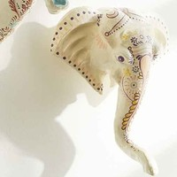 Plum & Bow Henna Painted Elephant Wall Sculpture