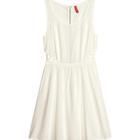 H&M - Cut-out Dress - Natural white - Ladies