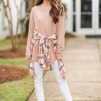 Easy Like Sunday Tunic, Warm Taupe