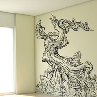 Vinyl Wall Decal Sticker Twisted Treehouse #OS_AA1334