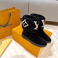 Louis Vuitton LV SNOWDROP FLAT ANKLE BOOT