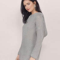 Chunky Knitted Hooded Sweater