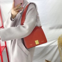 C¨¦line Women Leather Shoulder Bag Satchel Tote Bag Handbag Shopping Leather Tote Crossbody Satchel Shouder Bag