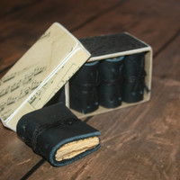 Miniature Leather Journals -Music Themed Boxed set, Packaged in Decorative Box, Easter Gift, Mother's Day Gift