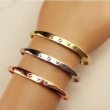 2016 new Fashion Jewelry gold plated Top Quality crystal Love Bracelets & Bangles FREE SHIPPING