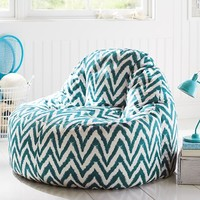 Dark Pool Tie Dye Chevron Leanback Lounger