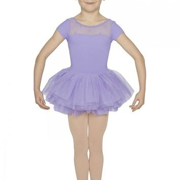 Wrap Back Cap Sleeve Tutu Leotard M1076C by Mirella