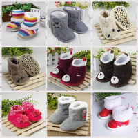 winter 0-18 months Newborn Baby Girls  Soft Crib Shoes Toddler Infant Warm bebe First Walker baby girls shoes Winter R7231