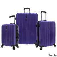 Traveler's Choice Tasmania Polycarbonate 3-piece Expandable 8-wheel Spinner Luggage Set   Overstock.com Shopping - The Best Deals on Three-piece Sets
