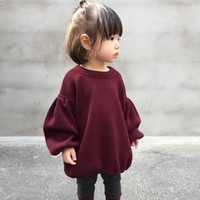 Girls Lantern Sleeve Top