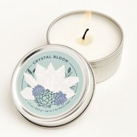 Crystal Bloom Tin Candle
