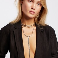 Free People City Slicker Opal Necklace