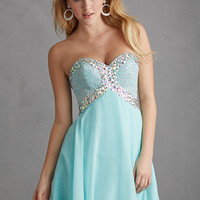 Night Moves 7206 - Water Strapless Chiffon Homecoming Dresses Online