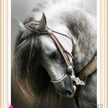 2014  new needlework  diamond painting pasted painting full drill diamond painting fashion wall decorative  horse free shipping