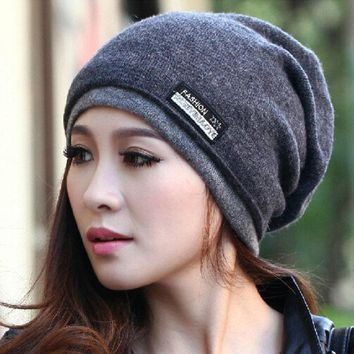CREYL 2015 High Quality  Warm Wool Caps Knitted Beanies Hat Infinity Scarf Winter Skullies Cap For Woman and Men
