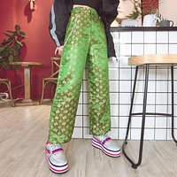 Chinese Dragon Satin Pants