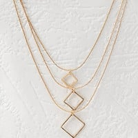 Layered Geo Charm Necklace