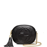Soho Leather Mini Chain Bag, Black - Gucci